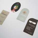 Individuālas formas vizītkartes