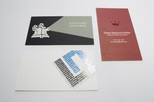 Vizītkartes ar UV laku