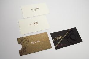 Vizītkartes ar folliju