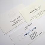 Vizītkartes ar reljefu