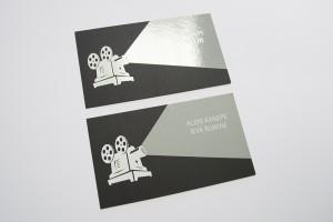 Vizītkartes sietspiedē ar UV laku